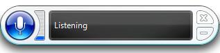 Windows 7 Speech Interface Panel