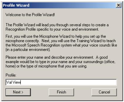 XP Profile Wizard