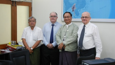 Mr Win Swe Tun and Mr Tike Aung host the VV Team in Yangon